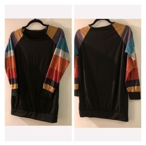 Tops - Multi coloured sleeved Top in great condition!